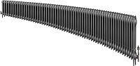 Eastgate Victoriana 3 Column 60 Section Cast Iron Radiator 450mm High x 3646mm Wide - Metallic Finish